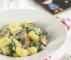Gnocchi mit Spinat-Frischkäse-Soße