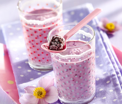 Brombeer-Bananan-Milch