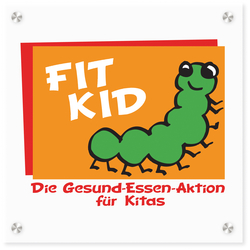 Logo-Schild FIT KID-Zertifizierung, Quelle: DGE