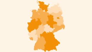 Referenzkarte mit FIT KID-Kitas in Deutschland
